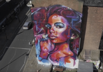 New Mural by MR.CENZ in Crystal Palace, London, UK