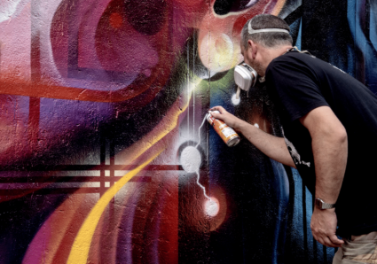New wall by MR.CENZ in East London