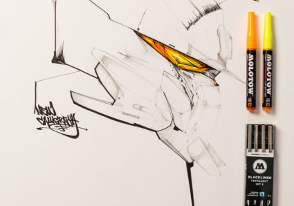 MOLOTOW Product Session #60 - showing off the Blackliner special tips CALLIGRAPHY and BRUSH S