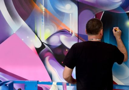 New huge canvas by MR.CENZ at the SHANGRI-LA Hotel London, UK