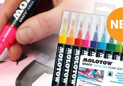 NEW MOLOTOW™ GRAFX Aqua Ink Pump Softliner Sets