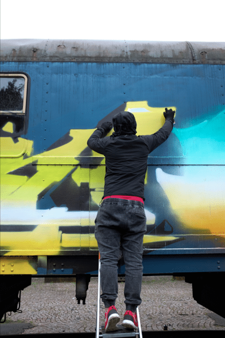 KAISY, GESER & OMSK167 piecing the MOLOTOW Train