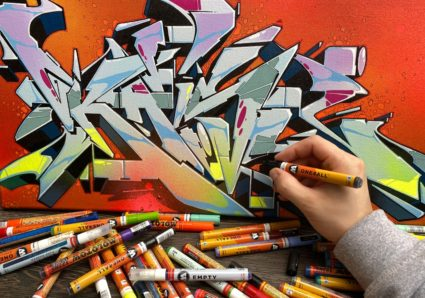 KAISY back on canvas x ONE4ALL Markers