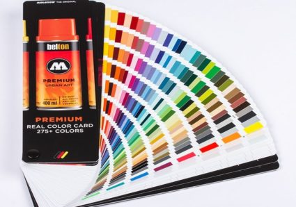 THE MOLOTOW PREMIUM 275+ REAL COLOR CARD