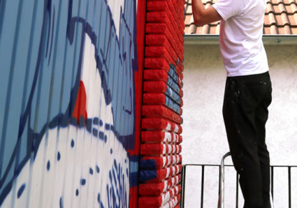 AMIT continues the NAMEDROPPING project with graffiti artist KARTEL