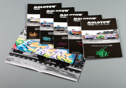 5 New MOLOTOW TRAIN Posters out now!