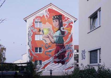 """Hemera"" Mural x LUCKY WALLS Project x MOLOTOW™ PREMIUM"