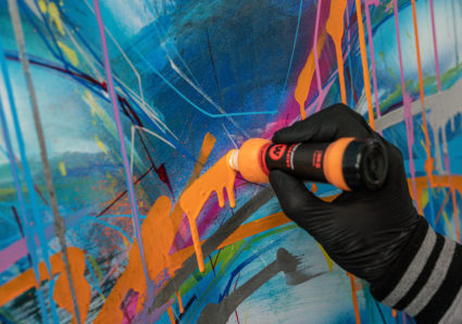 MOLOTOW Product Session #61 - presenting the excellent mixing properties of the DRIPSTICK PERMANENT PAINT 860DS