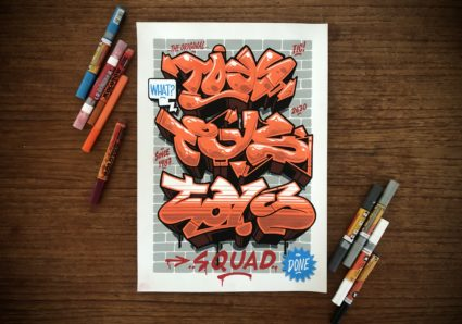 DONE x TOYS CREW x ONE4ALL Markers