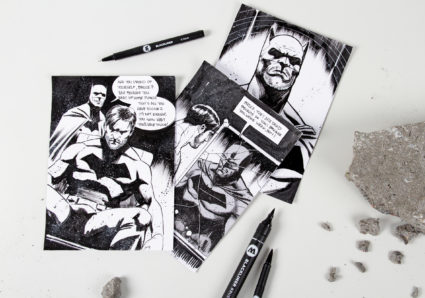 Illustrator SEDAT OEZGEN drawing with the MOLOTOW BLACKLINER