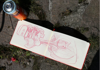 AMIT continues the NAMEDROPPING project with graffiti artist ROOKIE