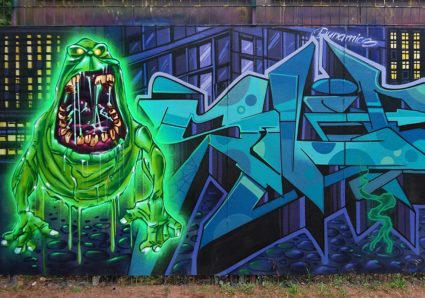 The GHOSTBUSTERS Wall by SLIDER, CAPARSO and BLAZE