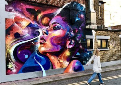 New Mural by MR CENZ in Peckham, London