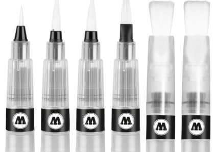 The MOLOTOW AQUA SQUEEZE PEN now available with 3 new brush-tips!