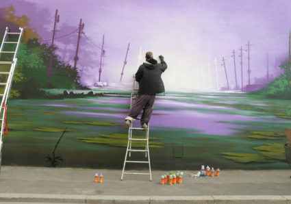 The Swamp Mural by SEYB ART in Montreuil, France
