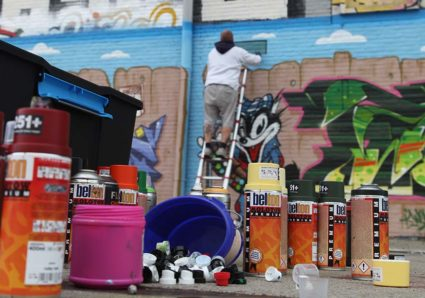 ROMEO, MEGA, WOK & AZME painting at NDSM Amsterdam