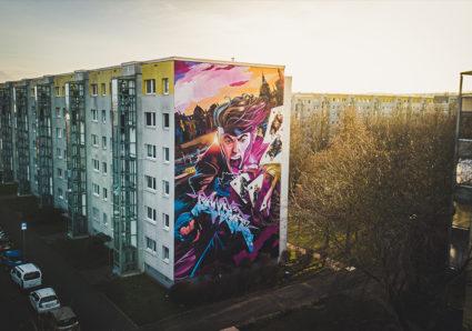 GAMBIT Mural x SLIDER x MOLOTOW™ Premium