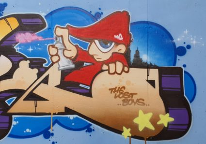 Fresh new piece by AKTE ONE painted with MOLOTOW Premium