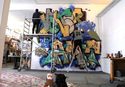 AMIT'S NAMEDROPPING PROJECT CONTINUES WITH GRAFFITI ARTIST VOLKER