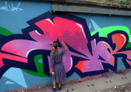 DYVA & HAECK piecing with MOLOTOW Premium & FLAME Paint