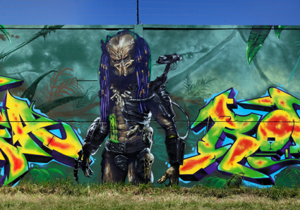 The Predator theme wall by the NASTY SONS
