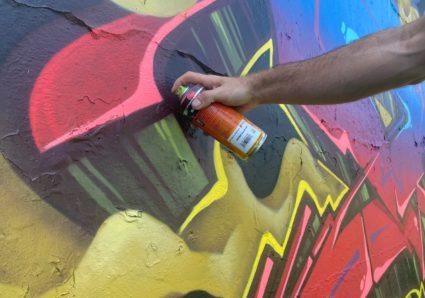 New piece by Graffiti artist OSTEO