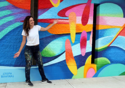 Two new murals by STEPH BOUTARI