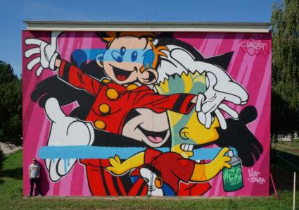 BUST ART Mural in Trnava, Slovakia